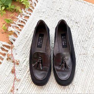 Stuart Weitzman Leather Tassel Loafers